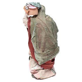 Mujer con cesta de paños 30cm belén napolitano s4