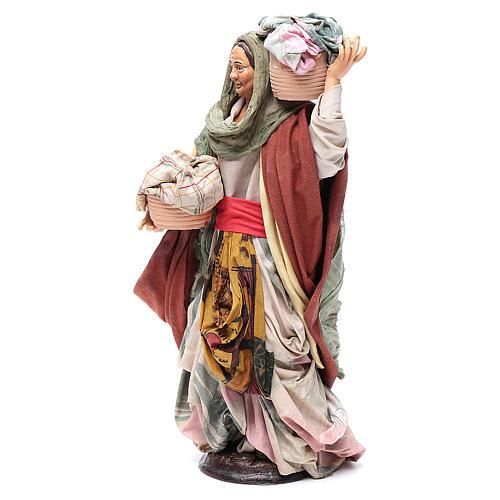 Mujer con cesta de paños 30cm belén napolitano 2