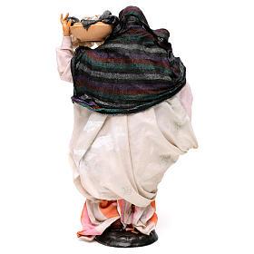 Donna con cesto di panni 30 cm presepe napoletano s5