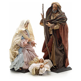 Neapolitan Nativity Scene: Neapolitan Nativity figurine, Joseph, Mary, baby Jesus, 45 cm