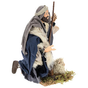 Neapolitan Nativity figurine, kneeling shepherd, 30 cm s8