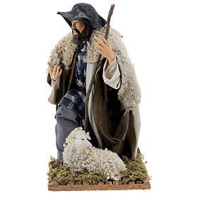 Neapolitan Nativity figurine, kneeling shepherd, 30 cm s3