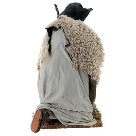 Neapolitan Nativity figurine, kneeling shepherd, 30 cm s5