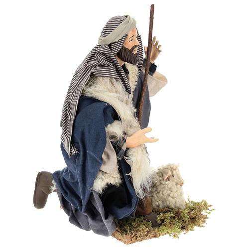 Neapolitan Nativity figurine, kneeling shepherd, 30 cm 8
