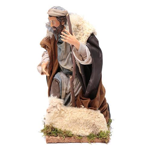 Neapolitan Nativity figurine, kneeling shepherd, 30 cm 2