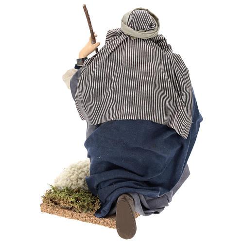 Chevrier à genoux crèche Napolitaine 30 cm 9