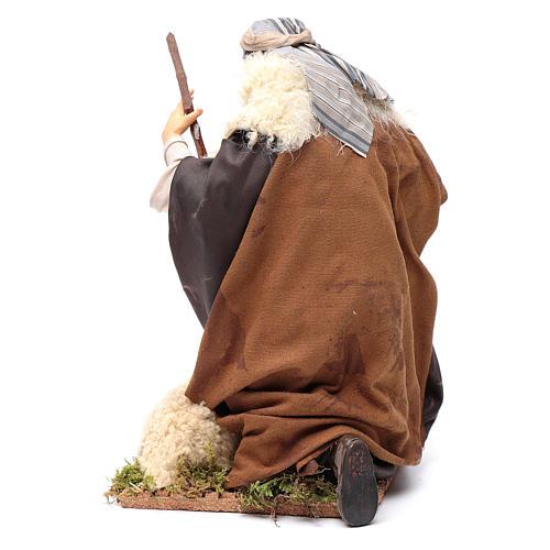 Chevrier à genoux crèche Napolitaine 30 cm 4