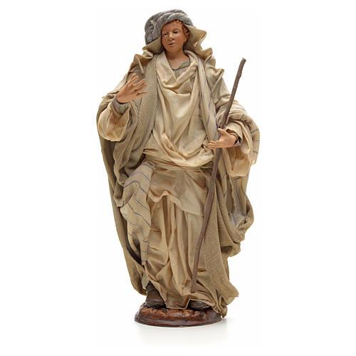 Neapolitan Nativity figurine, Arabian man with stick, 30 cm 1