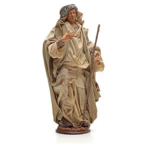 Neapolitan Nativity figurine, Arabian man with stick, 30 cm 4