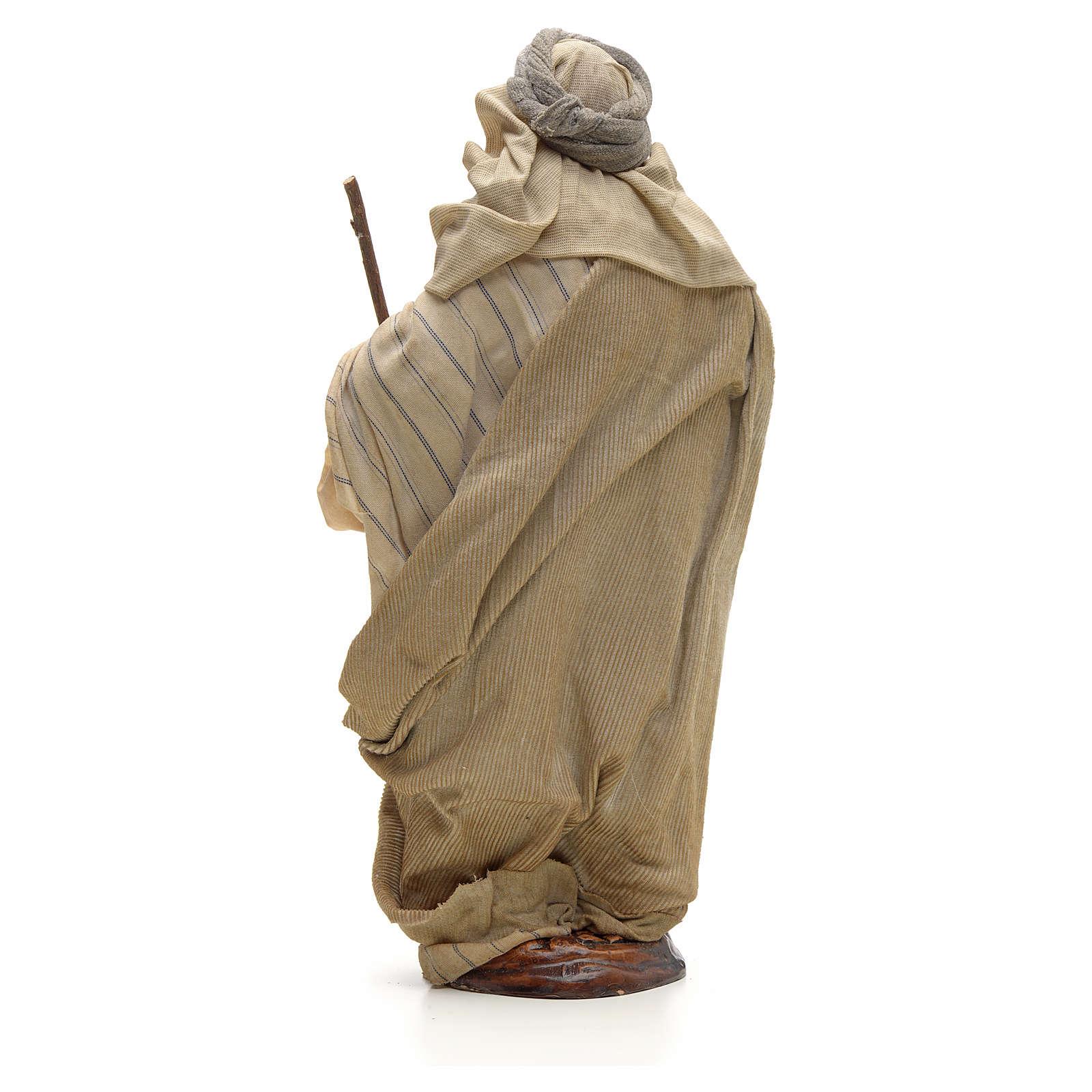 Arabe avec son baston crèche Napolitaine 30 cm 4