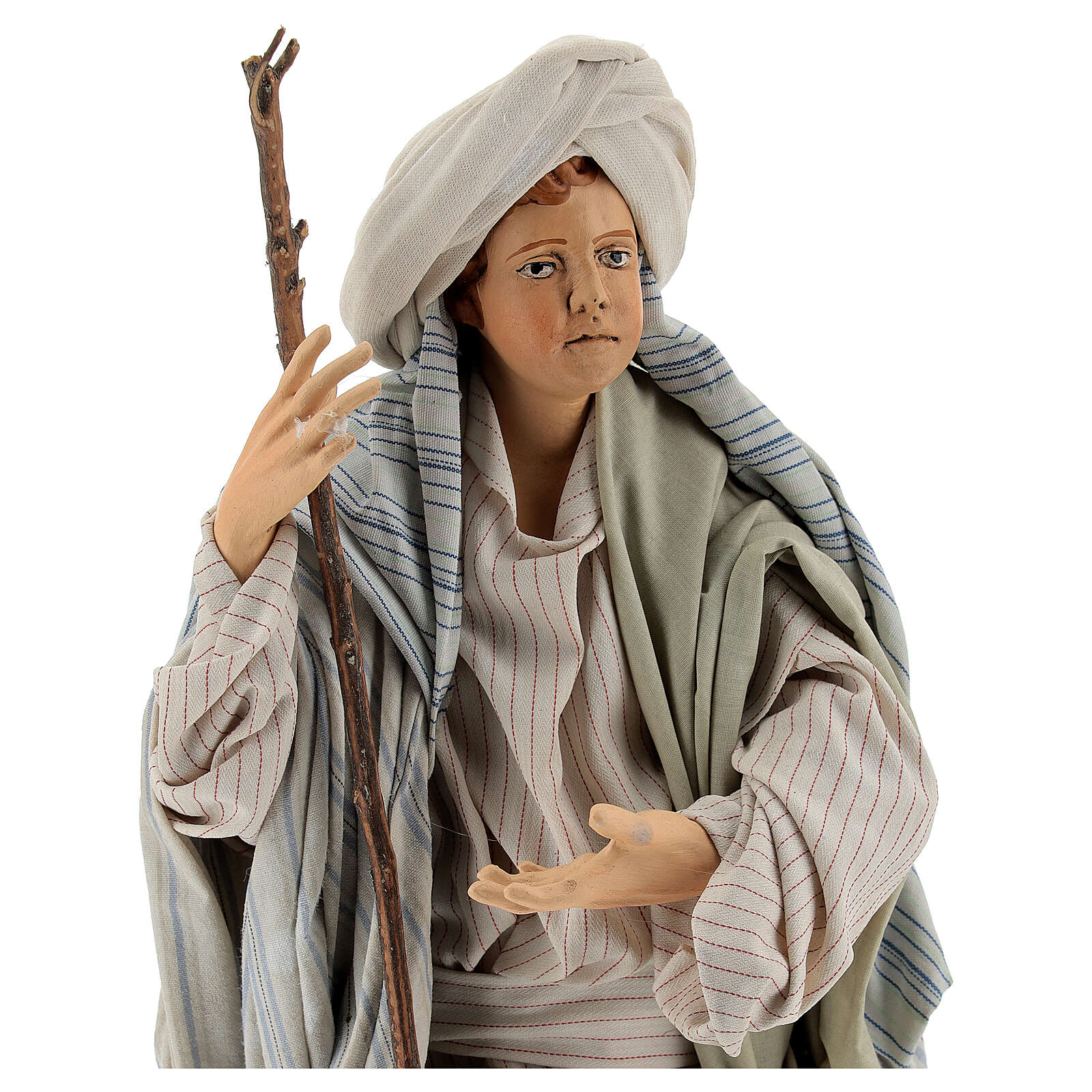 Arabo con bastone 30 cm presepe napoletano 4