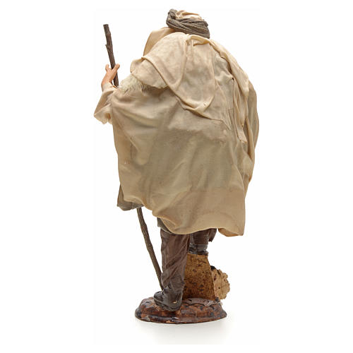 Neapolitan Nativity figurine, shepherd with stick, 30 cm 3