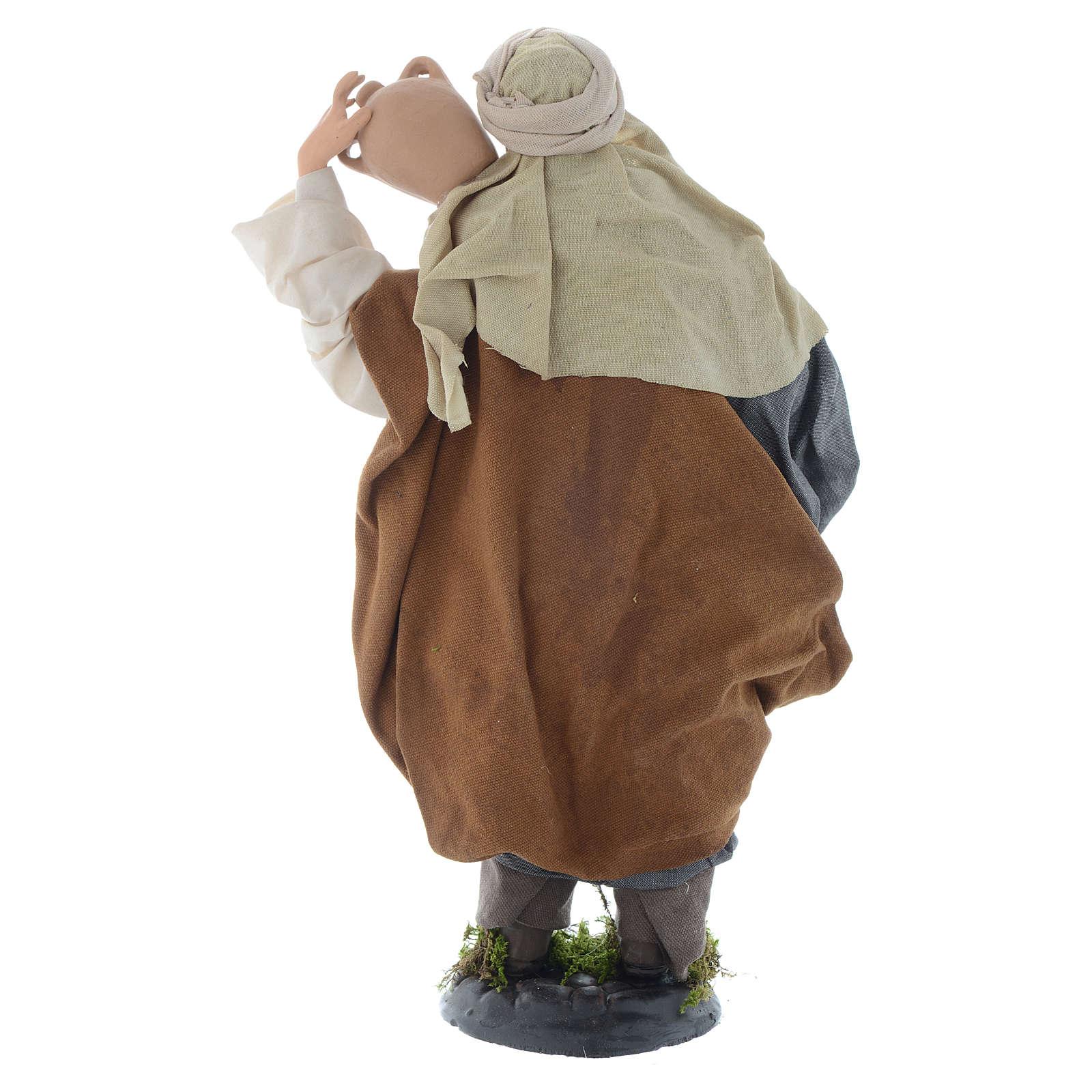 Hombre con jarrones 30 cm pesebre napolitano 4