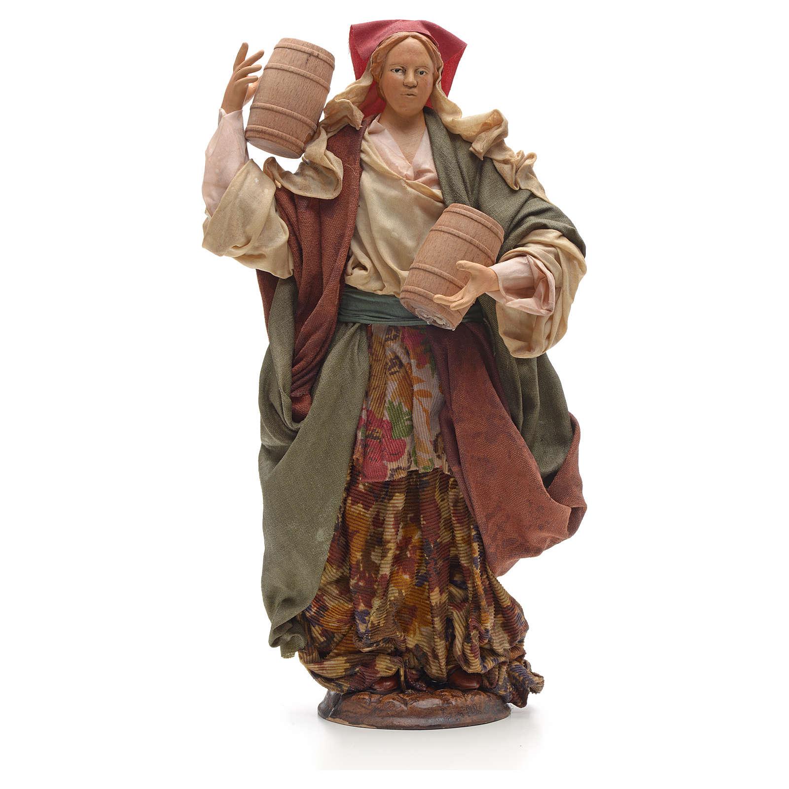 Mujer con barriles 30 cm pesebre napolitano 4