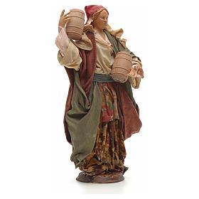 Mujer con barriles 30 cm pesebre napolitano s4