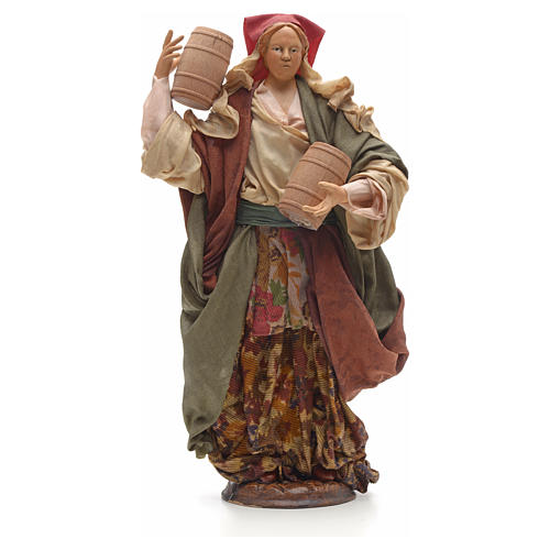 Mujer con barriles 30 cm pesebre napolitano 1