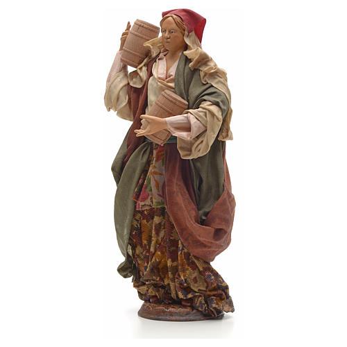Mujer con barriles 30 cm pesebre napolitano 2
