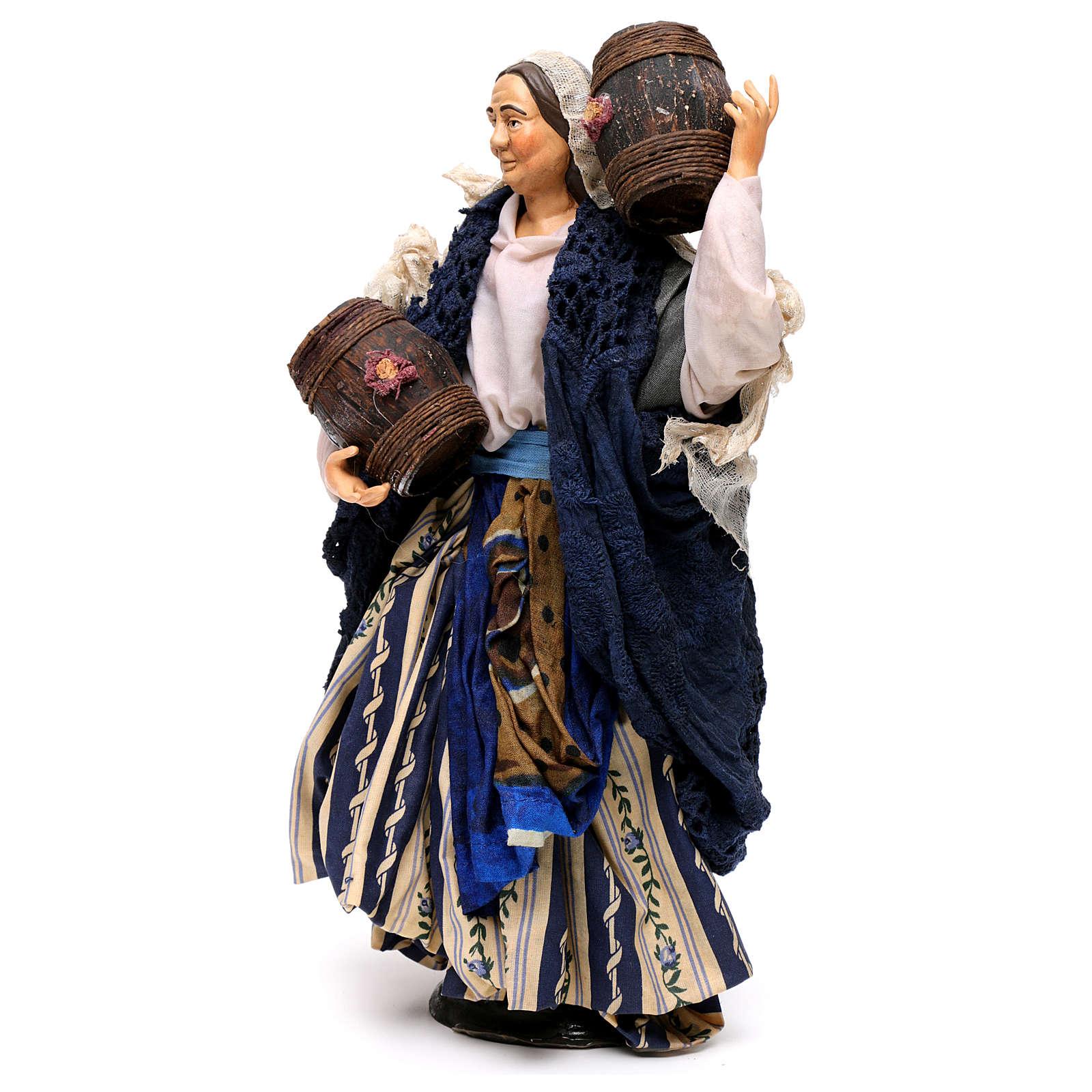 Donna con botte 30 cm presepe napoletano 4