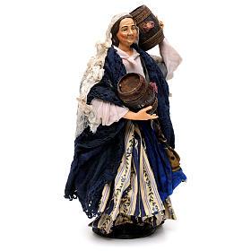 Donna con botte 30 cm presepe napoletano s4