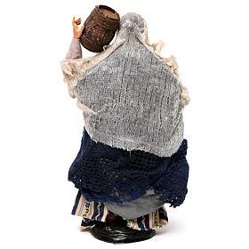 Donna con botte 30 cm presepe napoletano s5