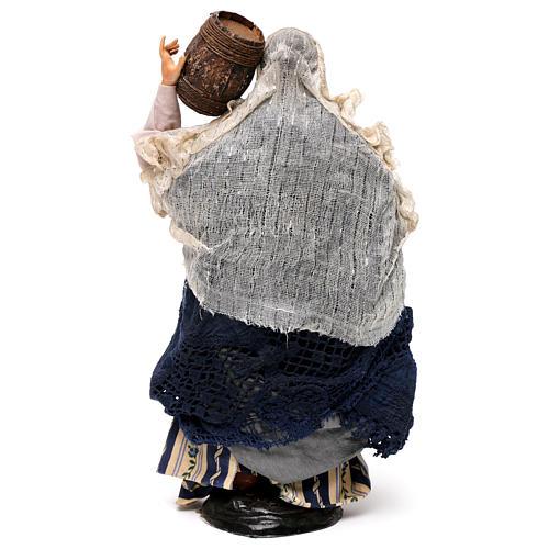 Donna con botte 30 cm presepe napoletano 5