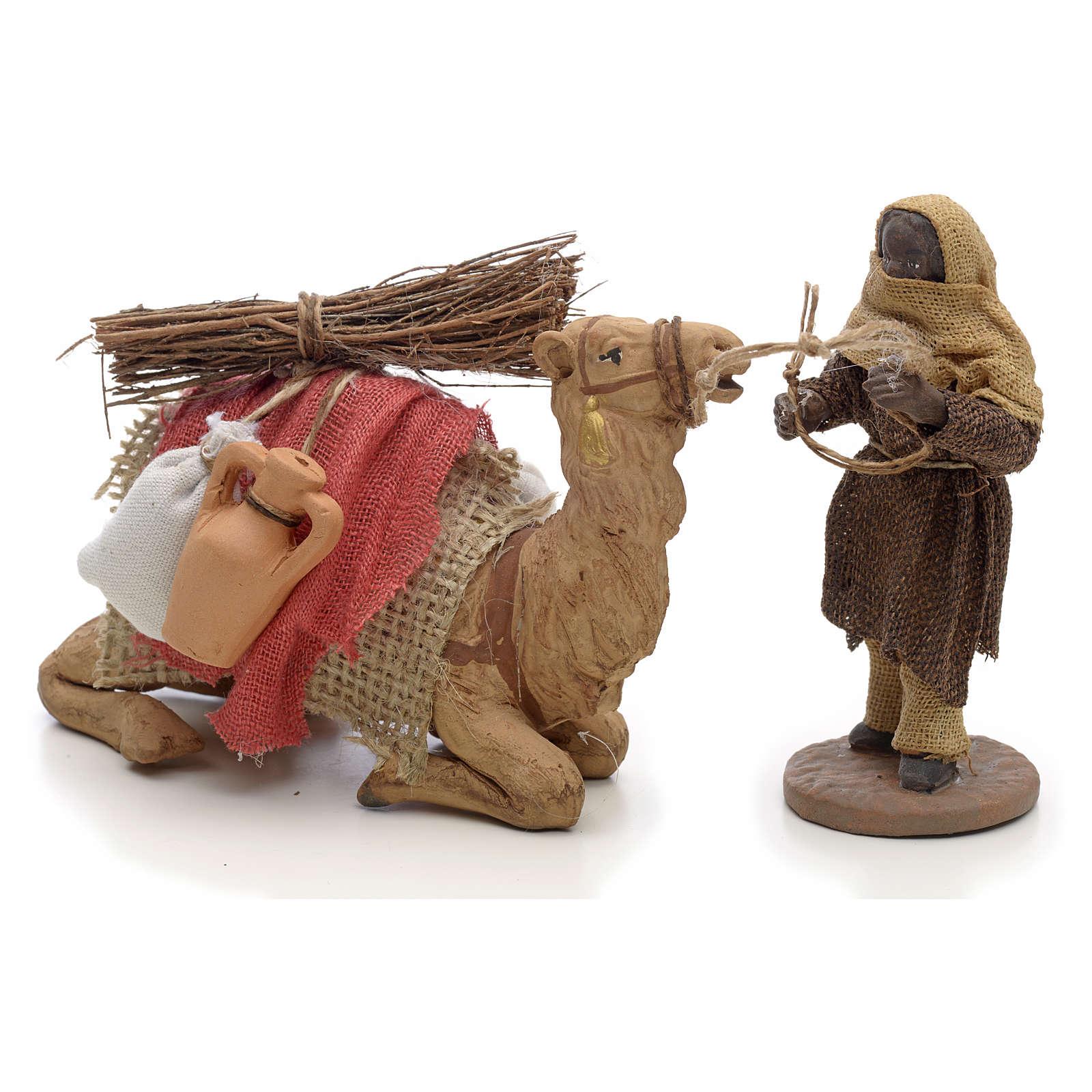 Cammelliere con cammello 10 cm scena presepe Napoletano 4
