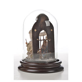 Neapolitan Nativity, Arabian style in glass dome 11x16cm s6