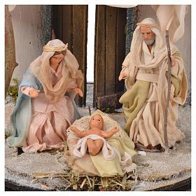 Neapolitan Nativity, Arabian style in glass dome 20x20cm s3