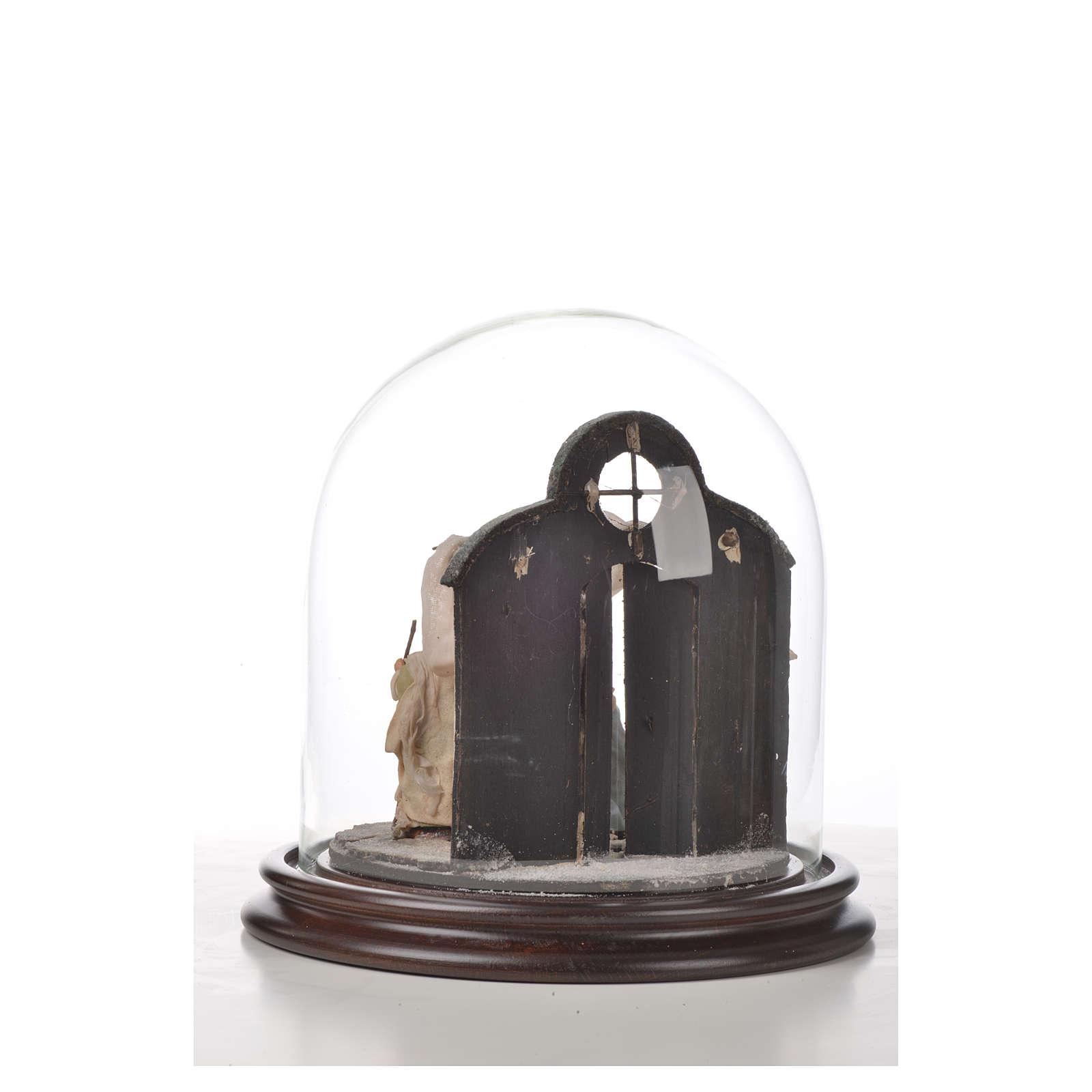Natività Napoli terracotta stile arabo 20x20 cm campana di vetr 4