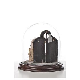 Natività Napoli terracotta stile arabo 20x20 cm campana di vetr s6