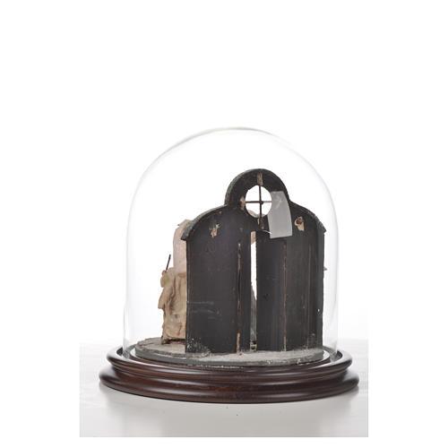 Natività Napoli terracotta stile arabo 20x20 cm campana di vetr 6