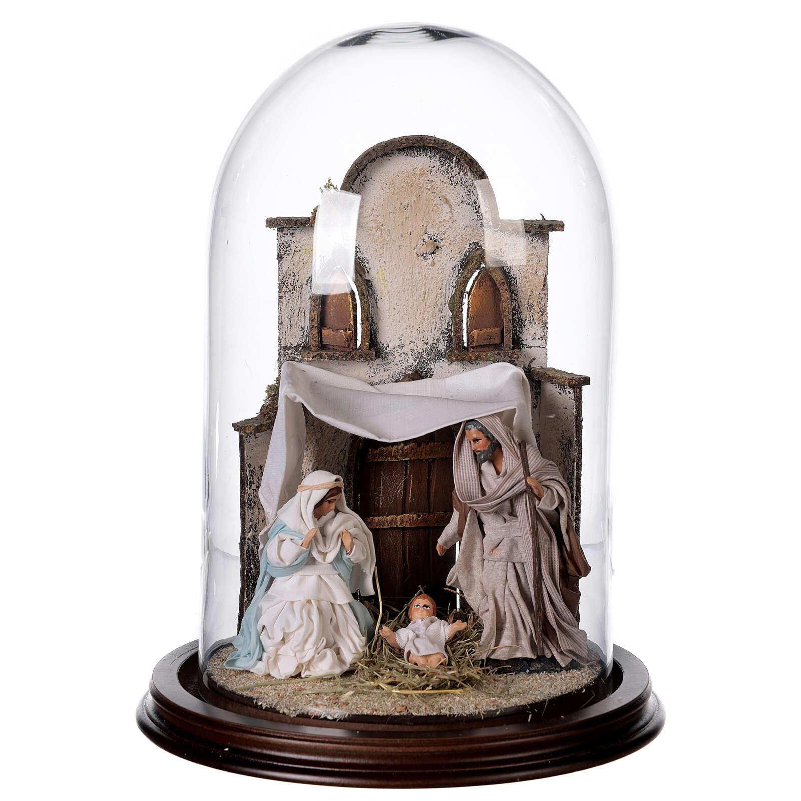 Natività Napoli terracotta stile arabo 20x30 cm campana di vetro 4