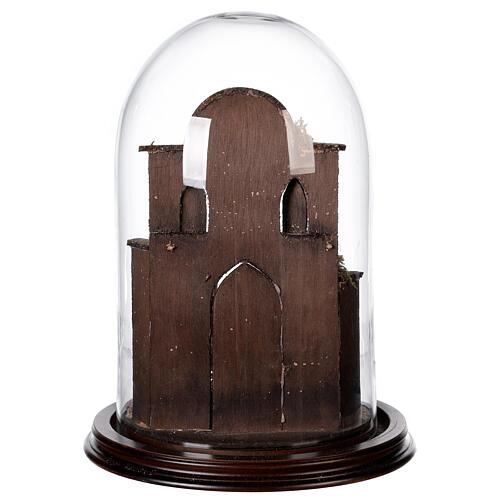 Natività Napoli terracotta stile arabo 20x30 cm campana di vetro 5