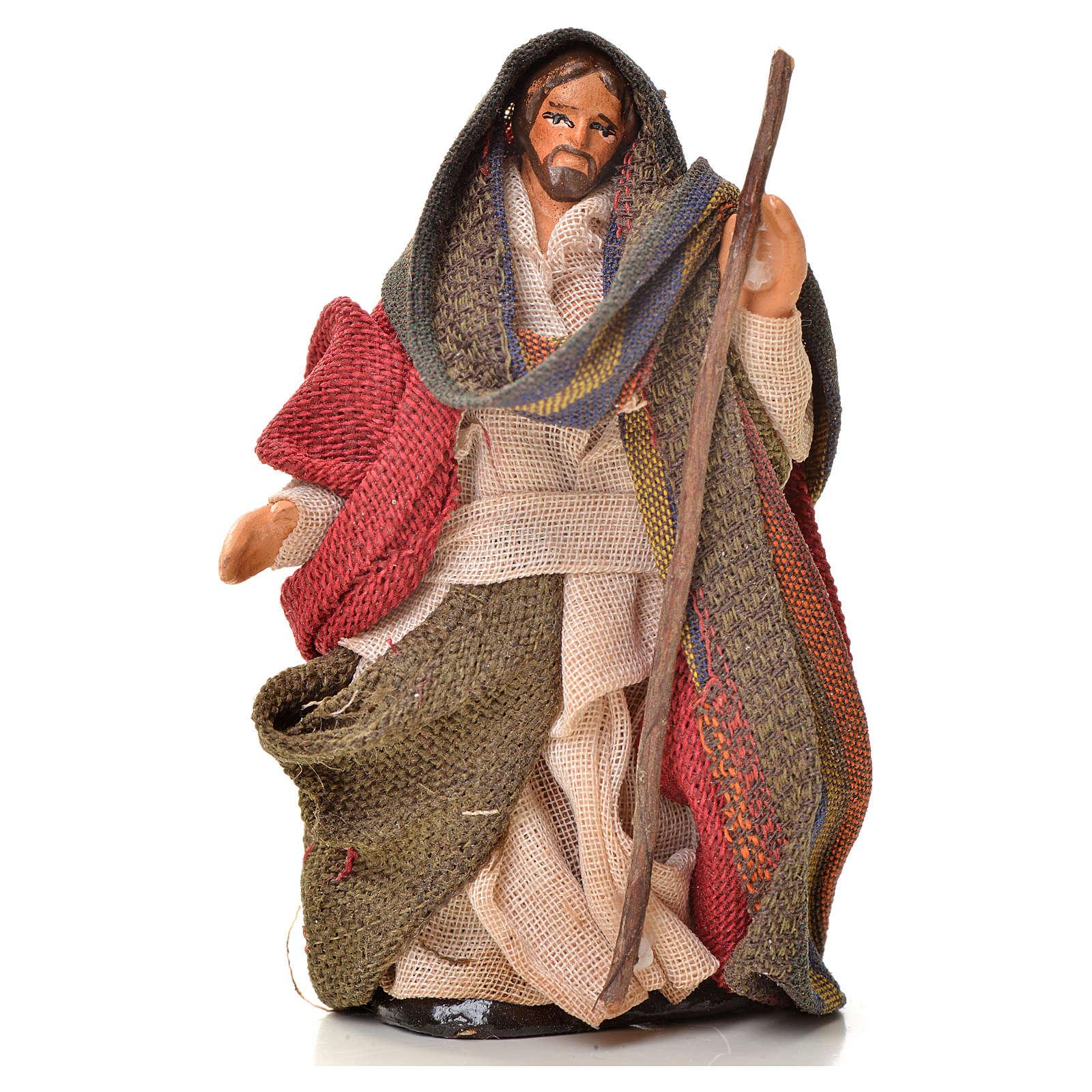 Neapolitan Nativity figurine, Joseph, Mary and baby Jesus, 6 cm 4