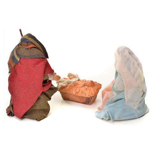Neapolitan Nativity figurine, Joseph, Mary and baby Jesus, 6 cm 5