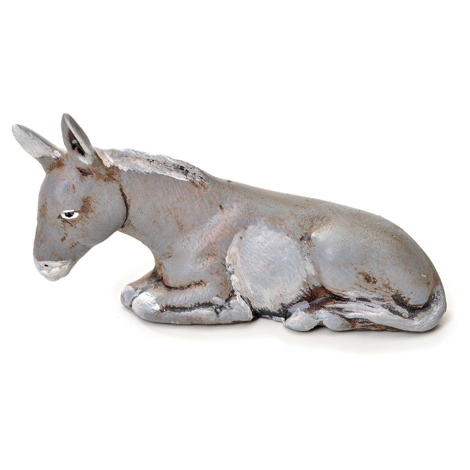 Neapolitan Nativity figurine, donkey, 6 cm 4