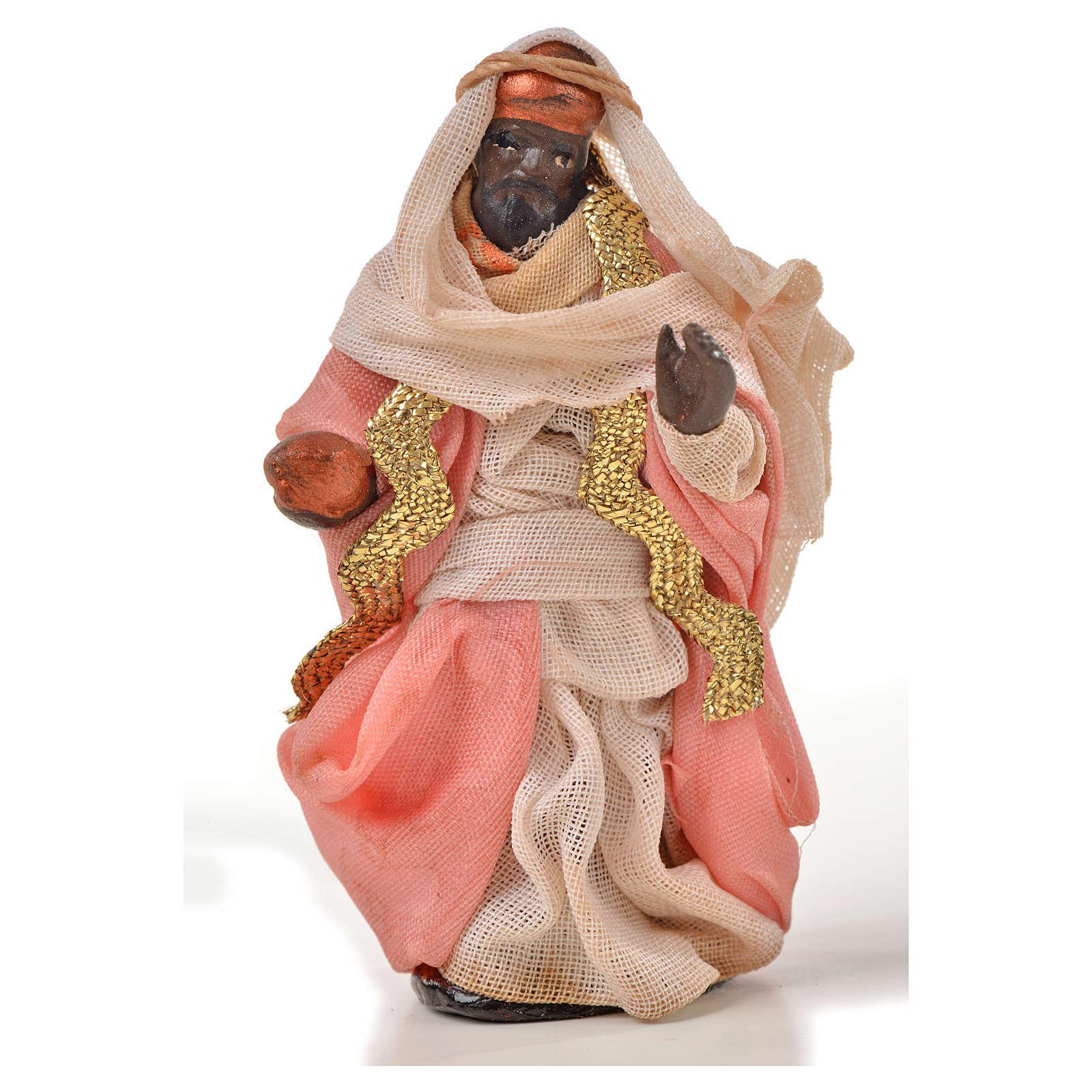 Reyes Magos 6 cm. belén Napolitano estilo árabe 4