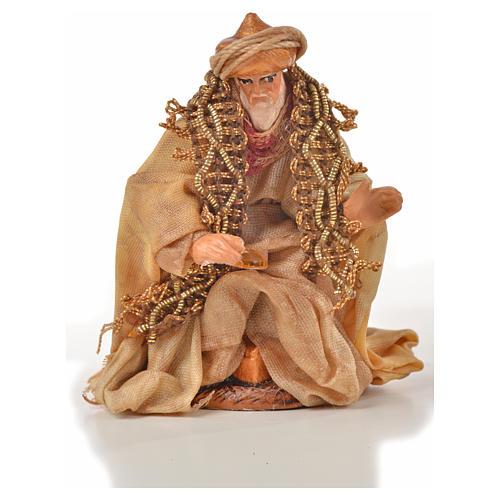 Reyes Magos 6 cm. belén Napolitano estilo árabe 3