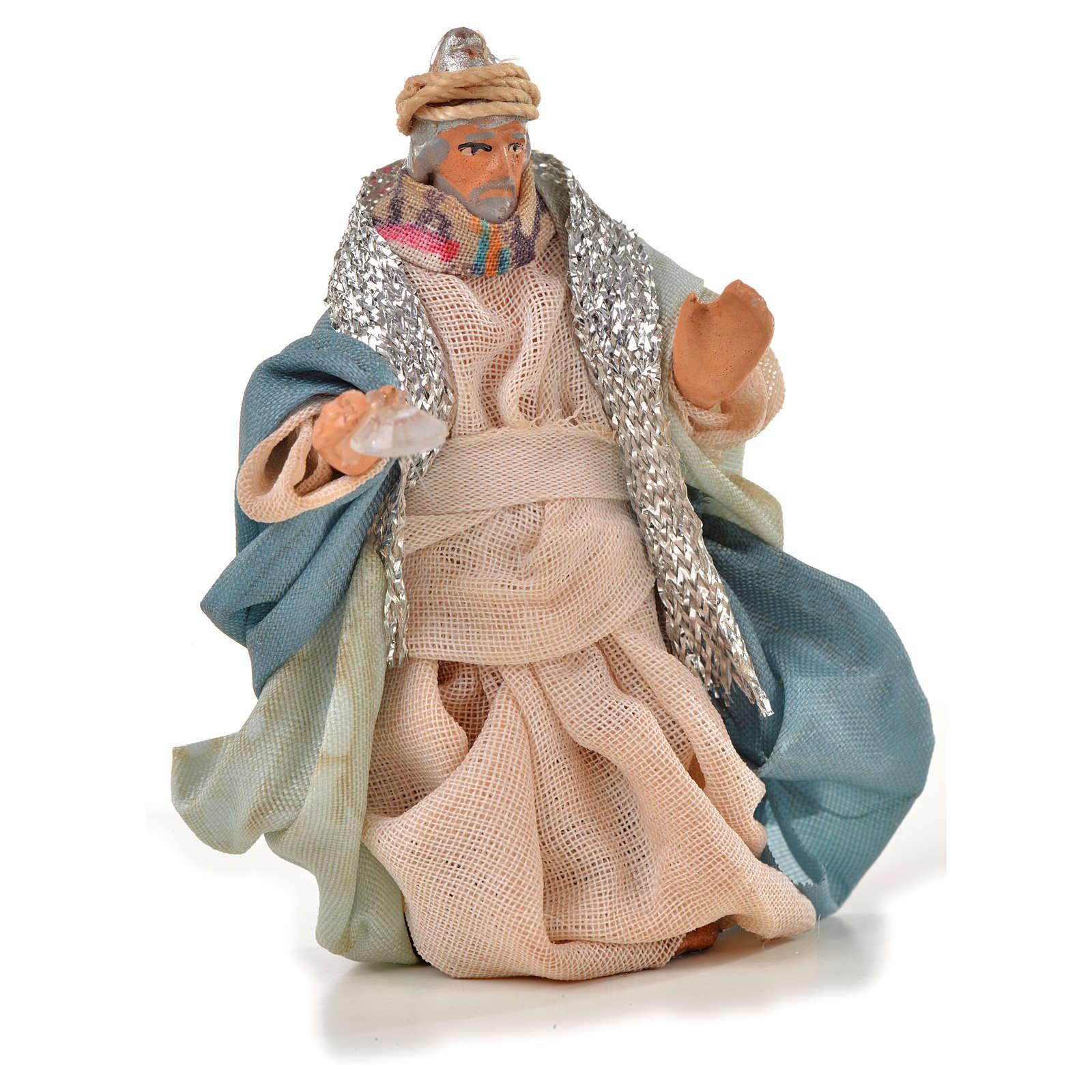 Rois Mages crèche Napolitaine 6 cm style arabe 4