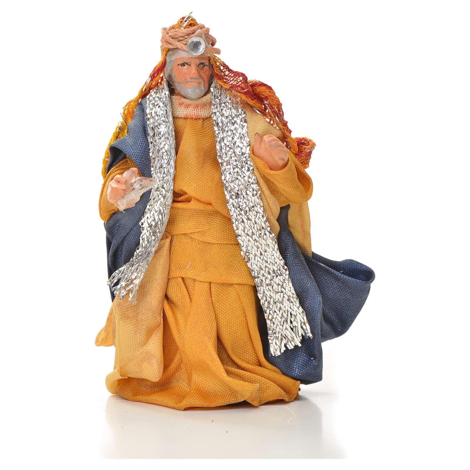 Neapolitan Nativity figurine, three wise Kings, 6 cm 4
