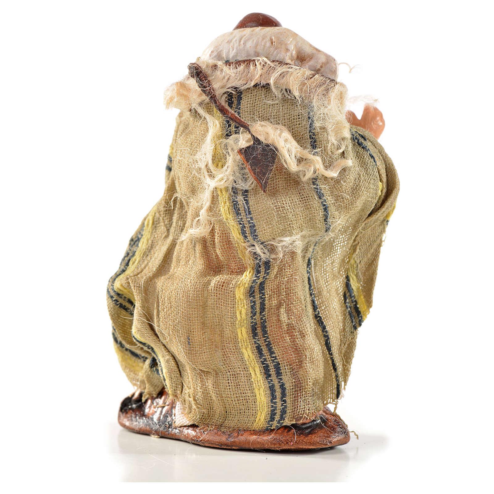 Uomo con pecora 6 cm presepe Napoli stile arabo 4