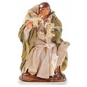 Uomo con pecora 6 cm presepe Napoli stile arabo s1