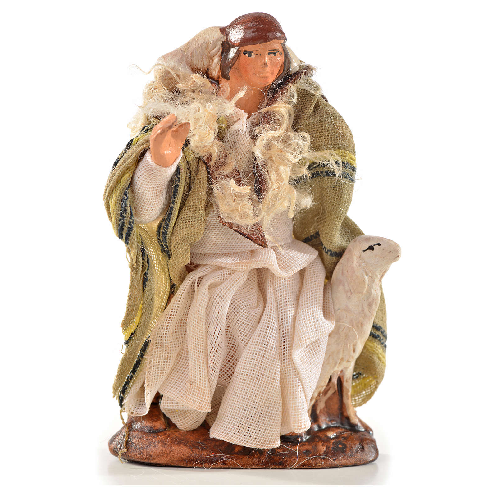 Neapolitan Nativity, Arabian style, man with sheep 6cm 4