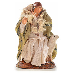 Neapolitan Nativity, Arabian style, man with sheep 6cm s1
