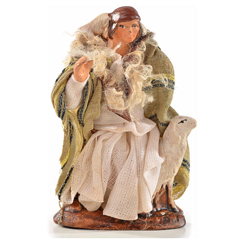 Neapolitan Nativity, Arabian style, man with sheep 6cm 1