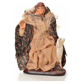 Berger à la brebis crèche Napolitaine 6 cm s1