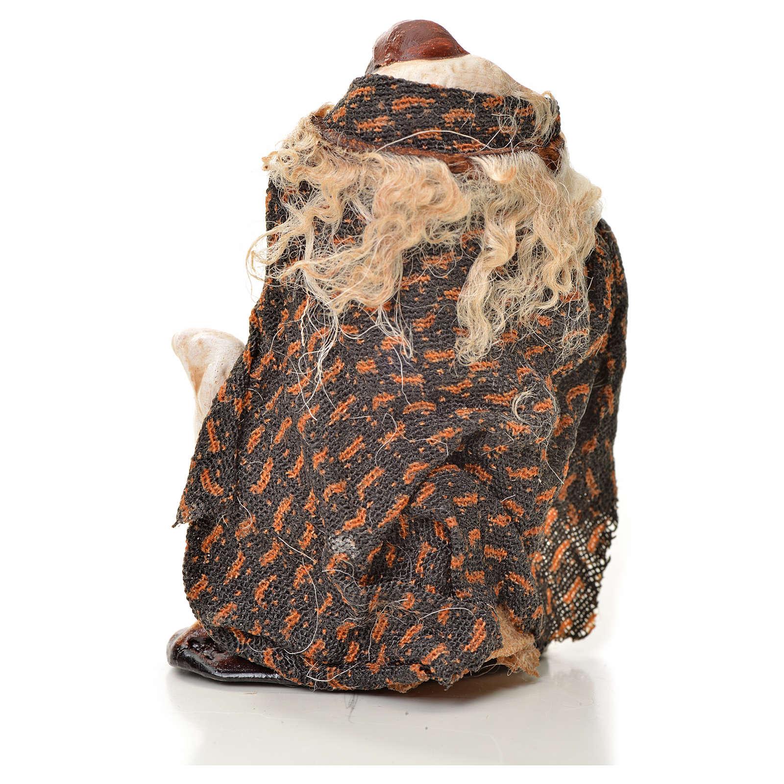 Uomo con pecora 6 cm presepe napoletano 4