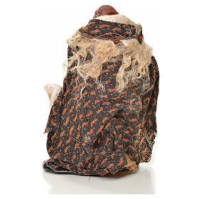 Uomo con pecora 6 cm presepe napoletano s2
