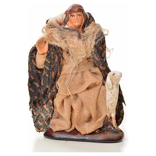 Uomo con pecora 6 cm presepe napoletano 1