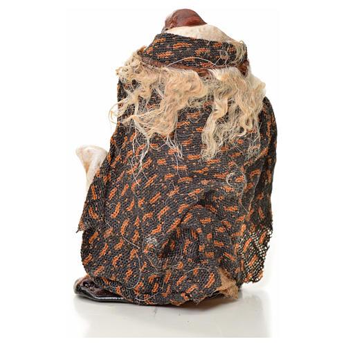 Uomo con pecora 6 cm presepe napoletano 2